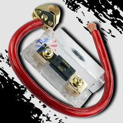 1/0 GAUGE AWG OFC WIRE KIT W/PLATINUM BATTERY TERMINAL & ANL