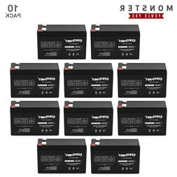 10 Pack ExpertPower 12V 9Ah F2 Terminal Rechargeable Sealed