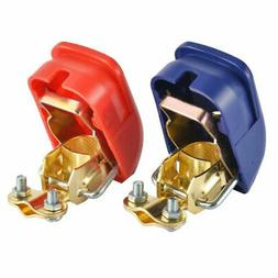 1pc Universal 12V Quick Release Battery Terminals Clamp Car