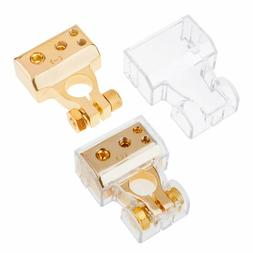 2 Battery Terminals with cover Positive&Negative 0/2/4/8 Gau