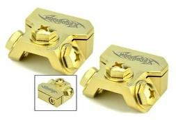 2 Xscorpion BTRG Gold Battery Terminal Any Size Gauge Ring T