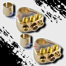 2 pcs Gold Plated Battery Terminal Multi Output Car Stereo G