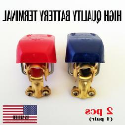 2pc Car Boat RV Heavy Duty Quick Release Battery Terminal Cl
