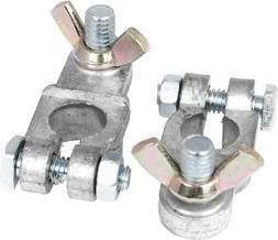 2PC LEAD ALLOY MARINE BATTERY TERMINALS Clamp type brass pla
