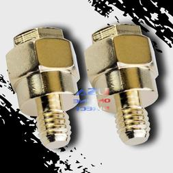 2pcs New GOLD Plated Short Side Post Mount GM Battery Termin