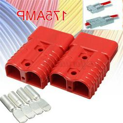 2pcs red quick connect 175 amp battery