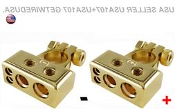HEAVY DUTY BATTERY TERMINALS HIGH END GOLD TERMINAL CONNECTO