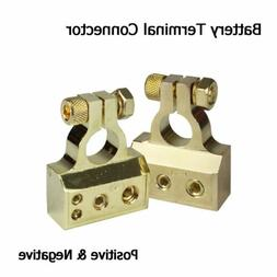 Heavy Duty Car Audio Stereo Battery Terminals Set Positive &