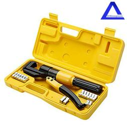 Hydraulic Crimper Crimping Tool/w 8 Dies Wire Battery Cable