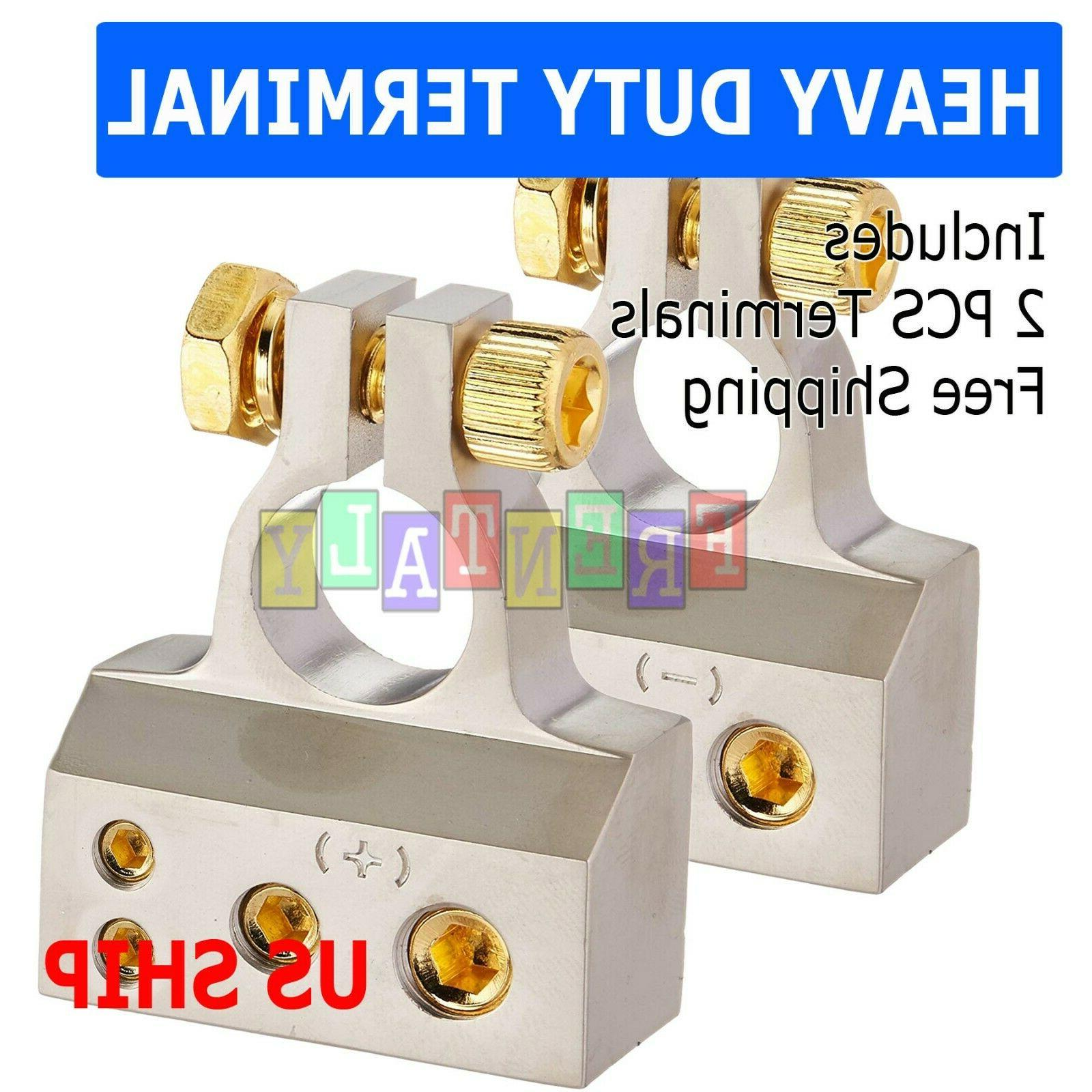 2 x battery terminal clamps positive negative