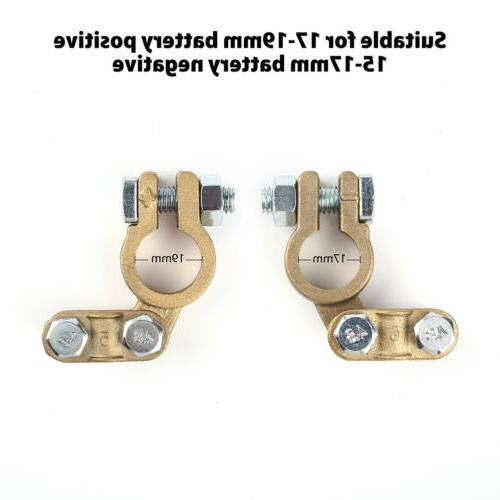 2x Cable Ends Clamp Negative