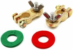 Thickened Brass Battery Terminal Set For Truck Van Marine Bo